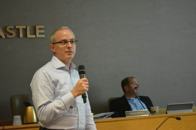 Chappaqua's Dan Googel, pictured at an October 2014 New Castle Town Board meeting.