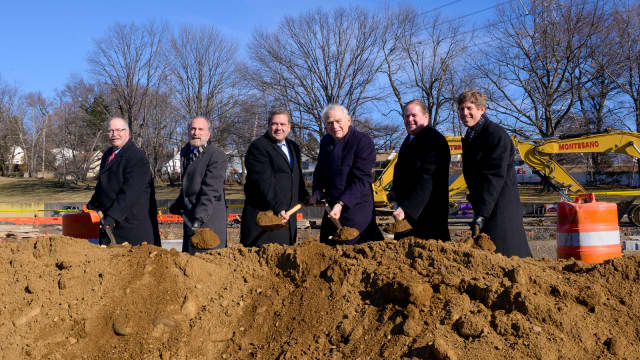 Mayor Mike Spano, members of the Yonkers City Council, the Yonkers Industrial Development Agency and Alfred Weissman Real Estate, LLC took part in the groundbreaking.