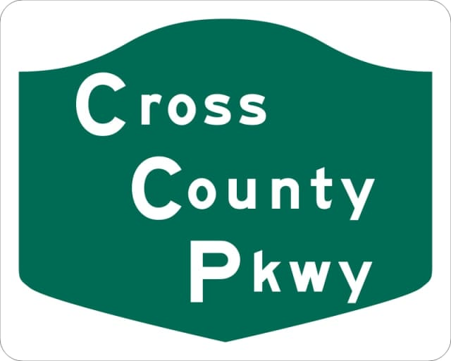 A downed tree has resulted in the closure of the eastbound Cross County Parkway at the Saw Mill River Parkway on Tuesday.