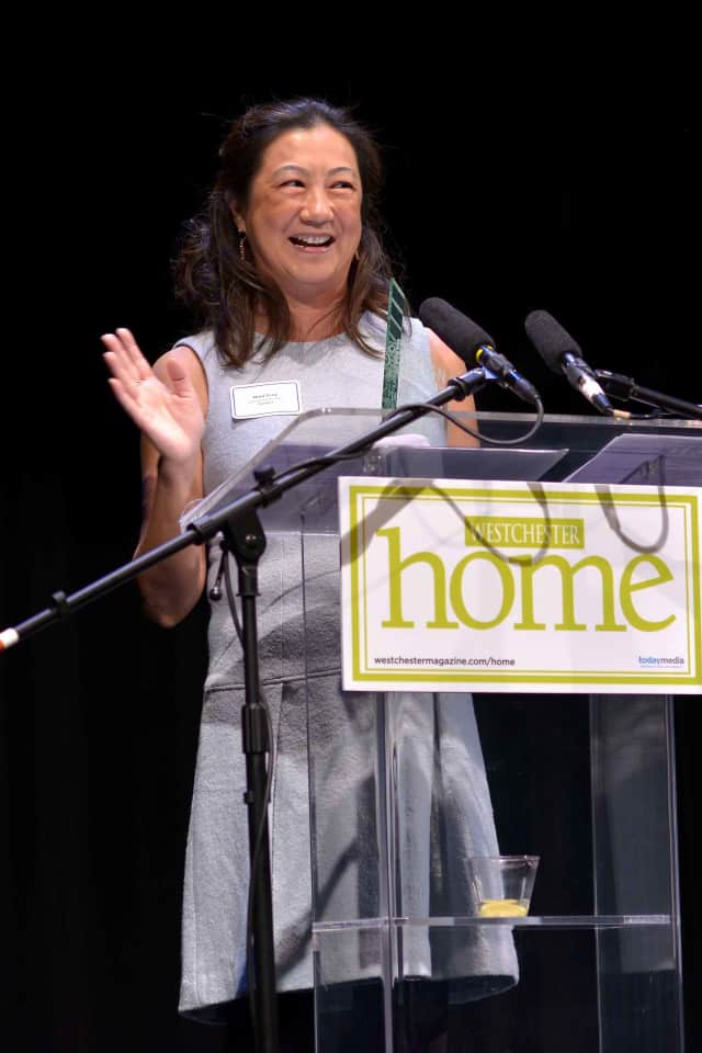 Mimi Fong of Luminosus Designs in  Scarsdale won an award for Best Dining Room at Westchester Home's design awards.