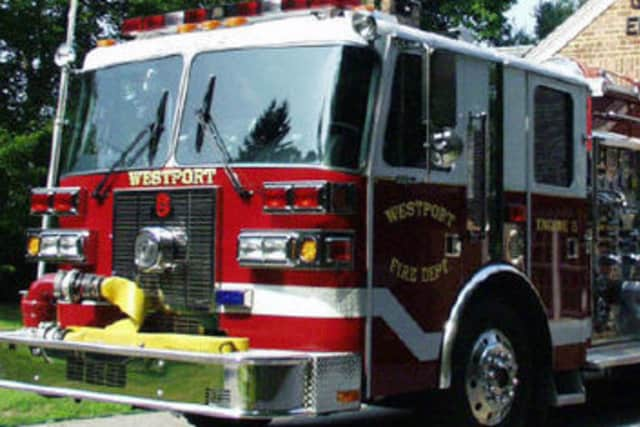 Westport firefighters quickly extinguished a basement fire on West Branch Road Monday night.