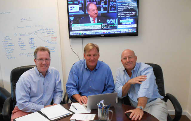 From left to right: Doug Richardson, Lee Jones and Kevin Rusch of Competitive Edge College Advisors. Missing is Brent Haney, the fourth partner.