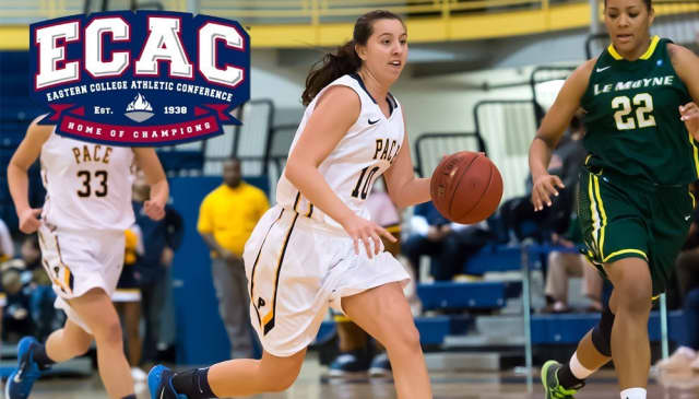 Pace University women's basketball freshman Gabriella Rubin.