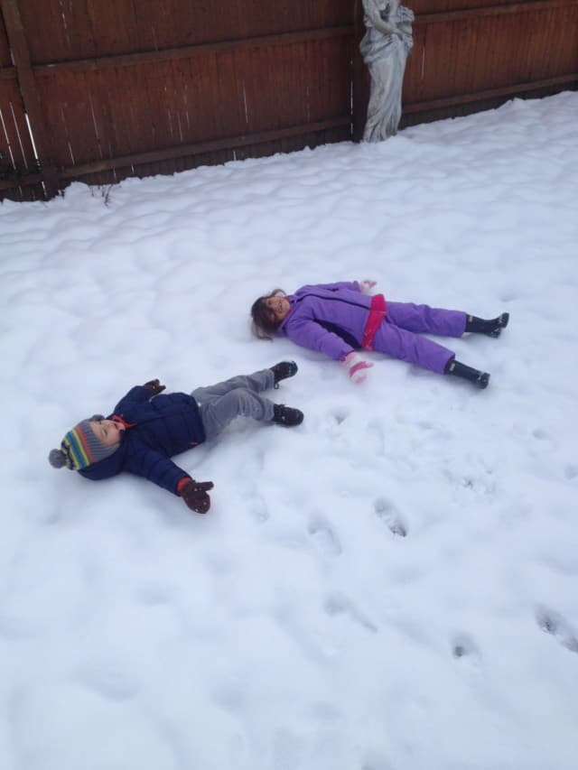 Some Tuckahoe children making the most of the snow at Koala Park Daycare, which recently opened its second location.