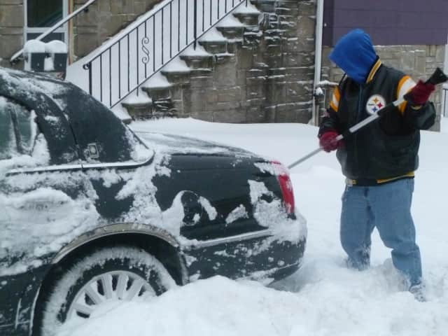 How long did it take to dig out your car?