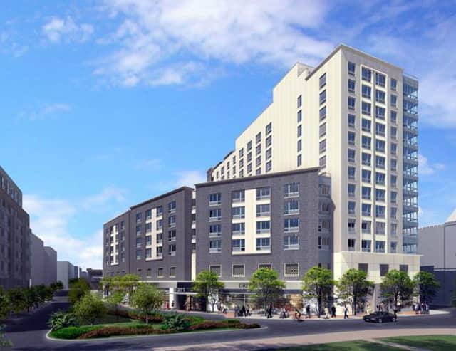 An artist's rendering of the LaPorte development in downtown Mount Vernon.