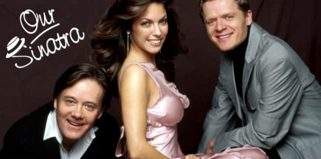 Eric Comstock, Hilary Kole and Christopher Gines perform Frank Sinatra songs at the Emelin Theatre on Feb. 7.