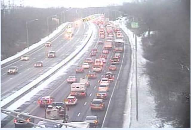 Commuters on Interstate 95 faced delays due to construction in Westport on Wednesday morning.