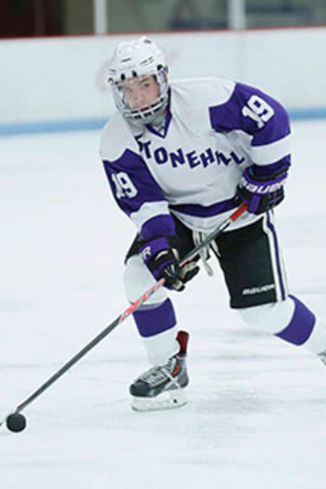 Robbie Dorgan of Ossining, a hockey player at Stonehill College in Massachusetts, was named the Northeast-10 Conference Player of the Week.