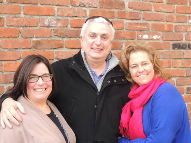 Weston residents Nancy Cohen, co-producer; Roy Berger, vice president, board of trustees, Child Guidance Center of Mid-Fairfield County; and Andrea Metchick, producer.