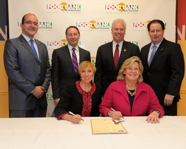 Food Bank For Westchester and Westchester Coalition for the Hungry and Homeless sign a merger.