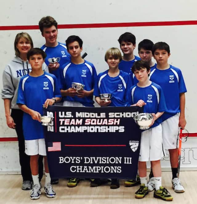 New Canaan Country School Boys' Squash Team won the Division III national title at Yale University.