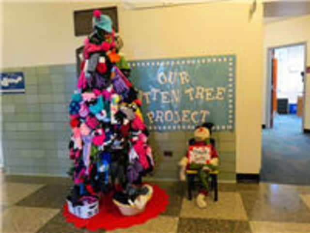Katonah Elementary School collected mittens for its mitten tree and gifts for its holiday gift drive during December.