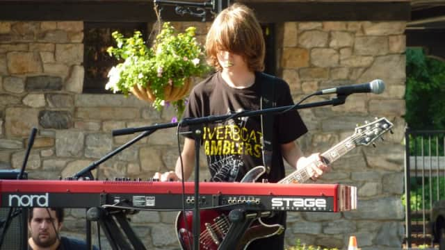 Shane Howe playing the keyboards in 2011. The Pleasantville High School senior died on Saturday.