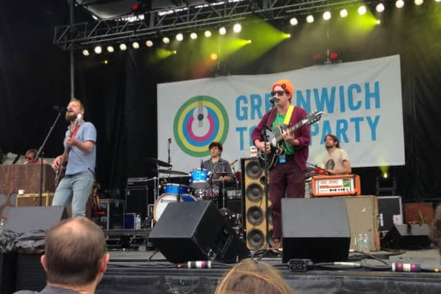Philadelphia-based rock band Dr. Dog plays at the 2014 Greenwich Town Party.
