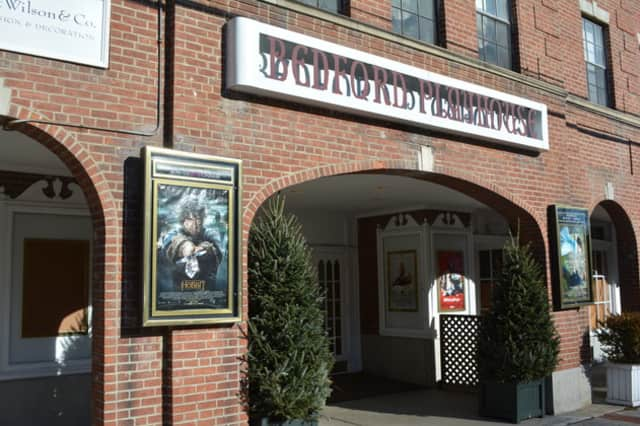 Entrance to the Bedford Playhouse's movie-theater space.