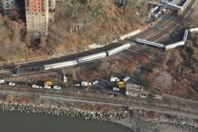 Four people were killed when a Metro-North train derailed in the Bronx near the Spuyten Duyvil station in December 2013.