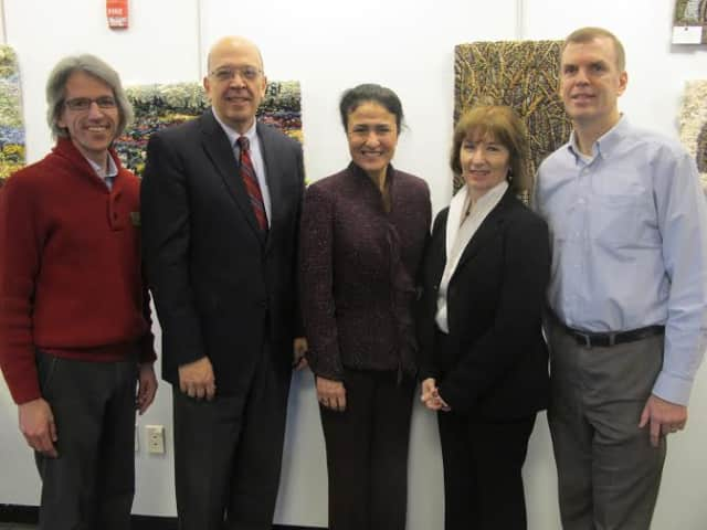 Terry Kirchner of Westchester Library System, Tracy Kay of Westchester Children's Museum, Maria Imperial of YWCA of White Plains and Central Westchester, Kathy Halas of Child Care Council, Westchester, Greg Maher of Leviticus 25:23 Alternative Fund.