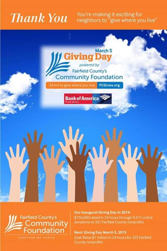 Nonprofits must register for Fairfield County's Giving Day by Feb. 13.