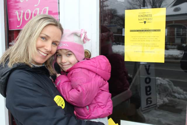 Veronica Mollica, with her daughter, Grace, will be active in International Random Acts of Kindness Week. Mollica started Kindness Matters, a local movement in Fairfield.