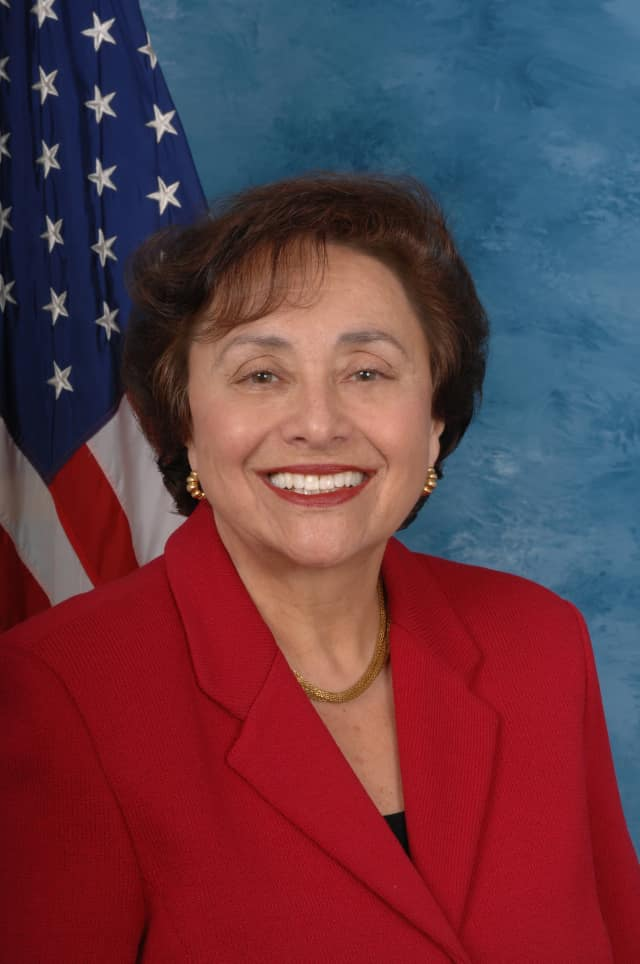 Rep. Nita Lowey's office provided pocket-size copies of the  Constitution to students.