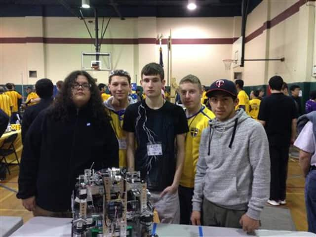 Peekskill High School's Iron Devils showcase their work at the FTC Robotics Competition in Yonkers.