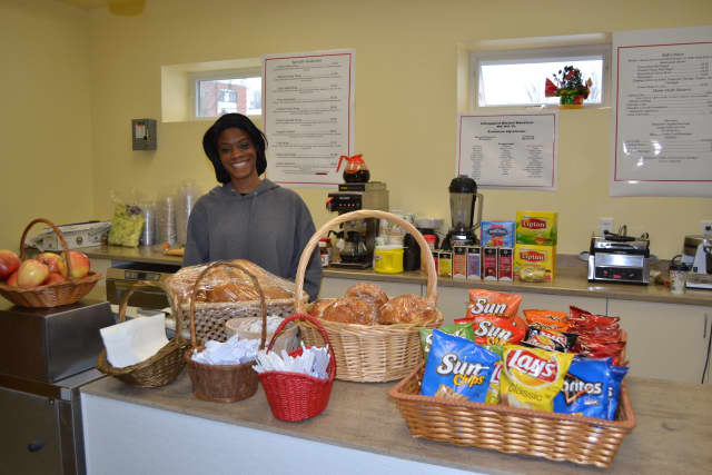 Keshia Criss of Norwalk, a native of Bridgeport, recently opened Rymackees Café at Danbury Library.