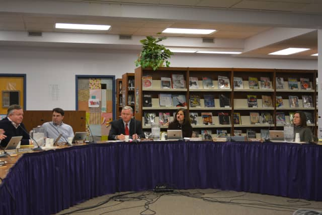 Katonah-Lewisboro School District officials at their board meeting on Thursday, Feb. 5.