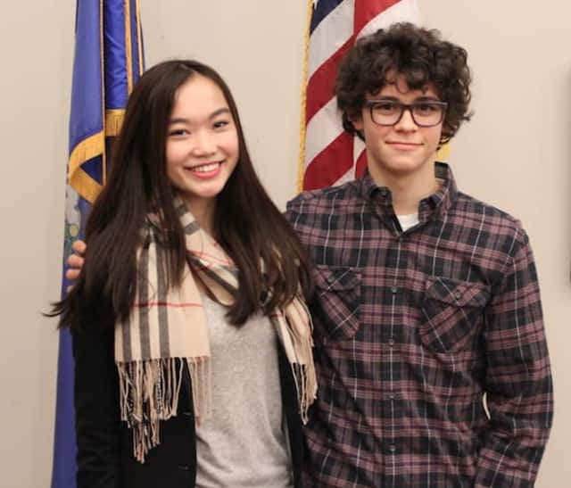 Veronica Ma and Charles Sosnick, seniors at New Canaan High School, were chosen for a prestigious one-week program in Washington, D.C., where they will learn more about how the federal government and its three branches work. It's held in March.