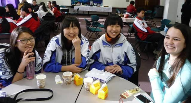 More than 50 students from Beijing, China, recently visited New Rochelle High School.