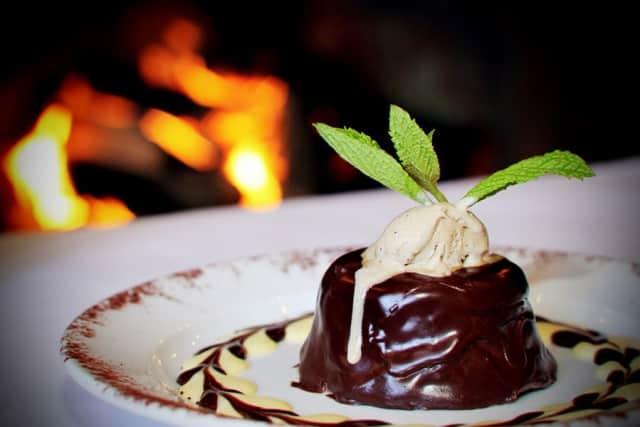 One of the many Valentine's Day dessert options at Club Car in Mamaroneck.