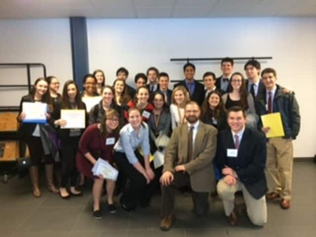 Several members of Mamaroneck's Original Science Research team took home awards at the Westchester-Rockland Junior Science and Humanities Symposium.