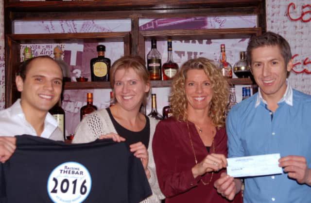 From left are Claudio Santos of Bianco Rosso, Project 2016 committee members Callie Mellana and Michele Ferguson Nichols, and Bianco Rosso owner Mario Lopez.