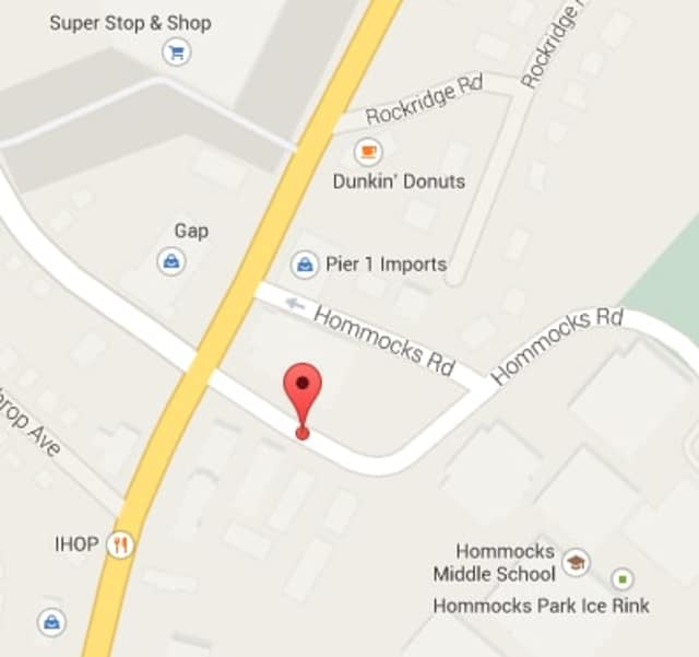 Mamaroneck firefighters are battling a blaze at a townhouse complex on Hommocks Road.