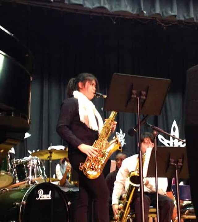 Emily Hung, an eighth-grade musician.