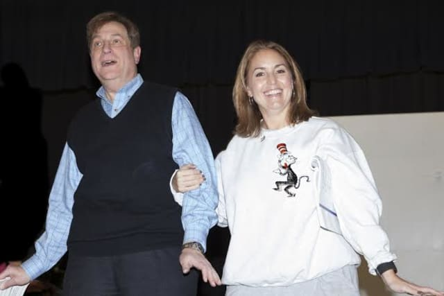 "Gregg Suss and Lynn Carbino are Mr. and Mrs. Mayor of Whoville in ""Seussical the Musical,"" performed by the St. Catherine's Players in Greenwich."
