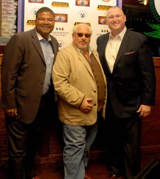 From left, Kurt Kannemeyer of St. Christopher's, Inc.; David Lipson of Century Management Services NY and Children's Happy Faces Foundation; and John Leone of Beechmont Tavern.