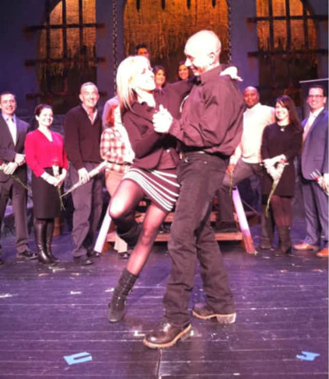 John Spoto Owner Of A Plumbing Company Poses With His Dancing Professional Partner Justyna