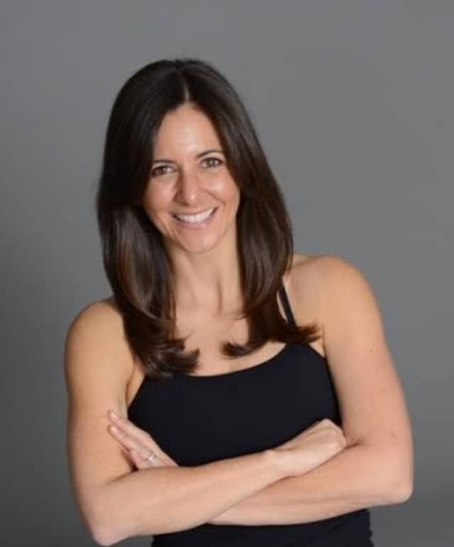 Lauren Solomon, a community volunteer and FlyBarre exercise instructor at Flywheel Sports in Scarsdale.