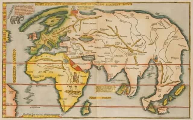This map, Laurent Fries, Diefert Situs Orbis Hydrographorum (Strassburg,1522) is part of the exhibit.