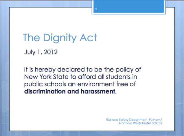 A screen shot from the PowerPoint presentation at the workshop.