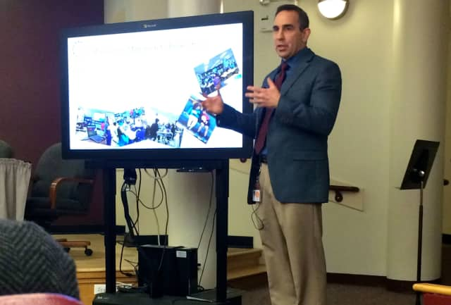 Briarcliff Manor Superintendent of School James Kaishian presented the 2015-16 budget preview to the Board of Education on Feb. 12.
