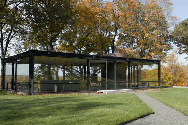Glass House in New Canaan.