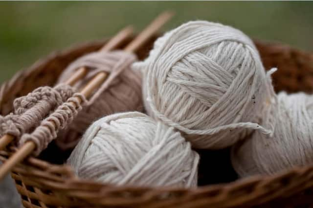 """Support Connection Inc.'s free monthly program, """"Marge's Knitting Circle, will be offered April 28 at the Support Connection office in Yorktown Heights"""