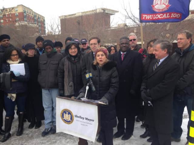 Several local and state lawmakers were joined by commuters and advocacy groups to urge Gov. Andrew Cuomo to increase funding for non-MTA transit systems.