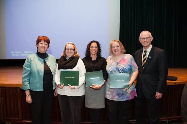 Pelham resident Marya Howell-Carter, third from left, won the 2015 CARES Award from Farmingdale State College.