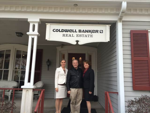 Marion Weiler, Marketing Director, Connecticut and Westchester County, Carll Tucker, Founder, CEO Daily Voice and Cathleen Smith, President of Coldwell Banker Residential Brokerage in Connecticut and Westchester.