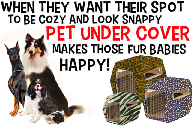 Evelyn Turco of Bedford has a second business, Pet Under Cover, which provides covers for pet crates.