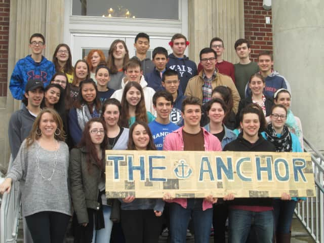The staff of The Anchor, Hendrick Hudson's student newspaper.