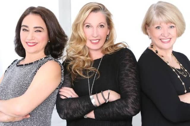 From left, Maria Carlino, Beth Hargraves and Bernadette Haley.